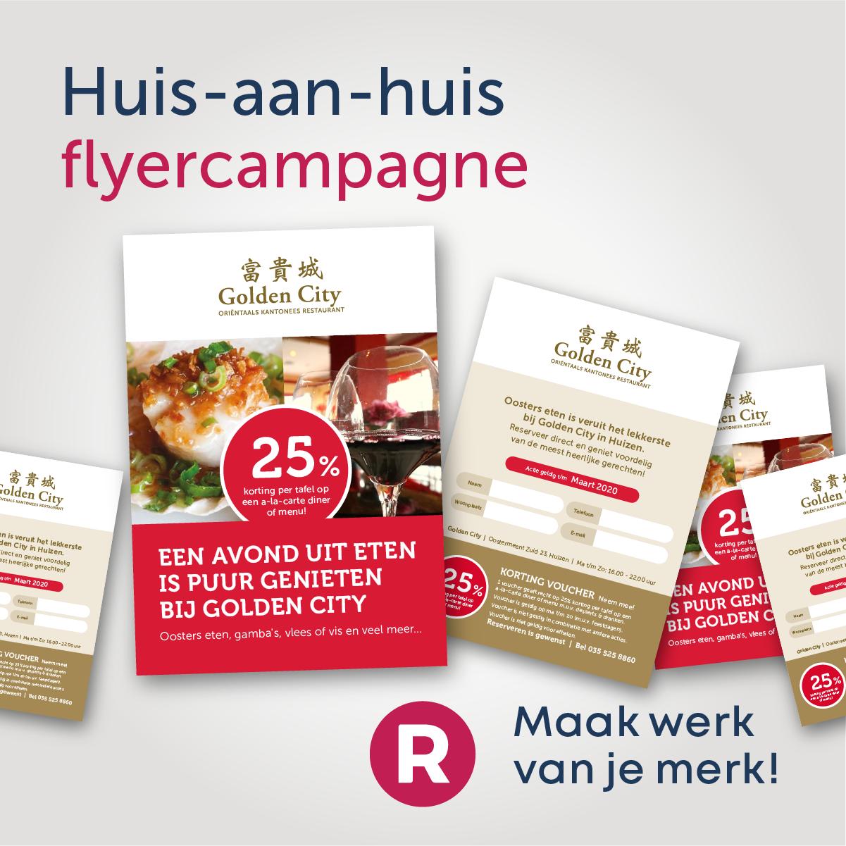 GoldenCity Huis-aan-Huis flyercampagne